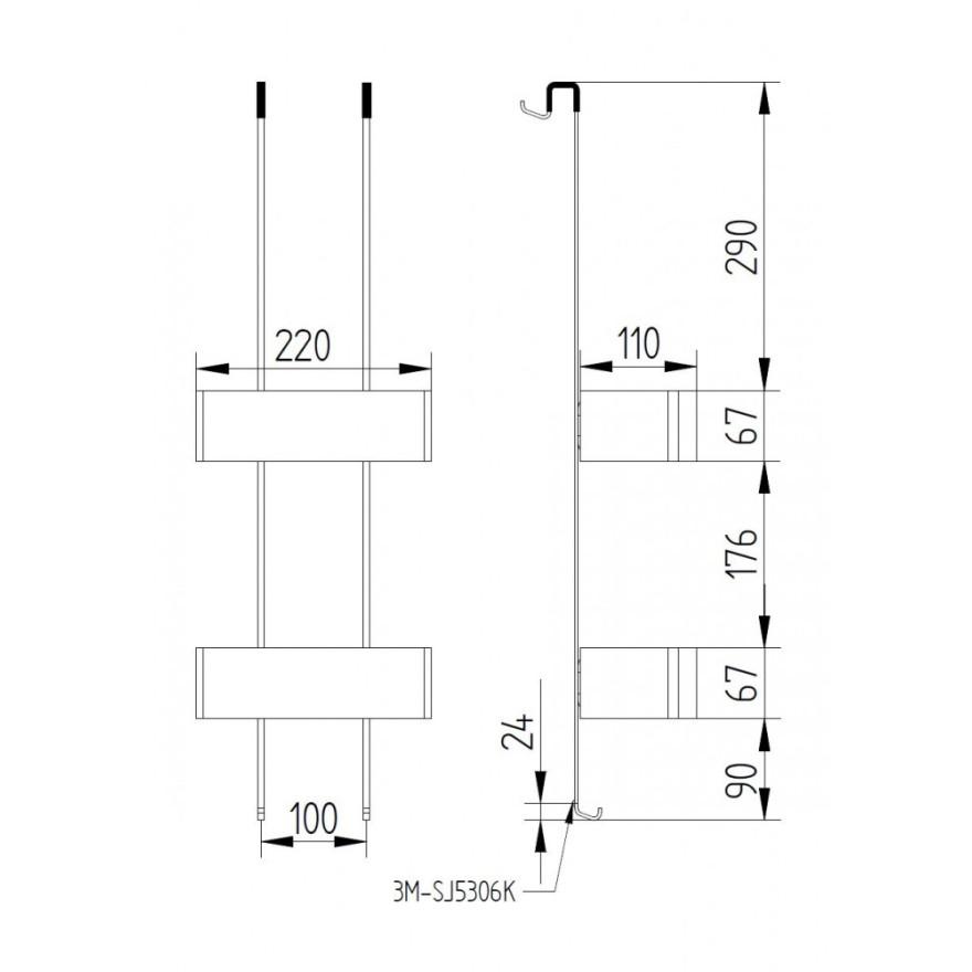duschregal mit zwei k rben edelstahl poliert zum h ngen an eine glasduschwand treffpunkt bad. Black Bedroom Furniture Sets. Home Design Ideas