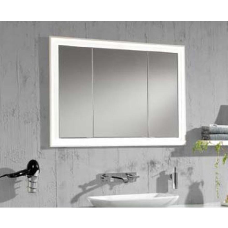 einbau spiegelschrank 102 cm 3 t rig mit led leuchtkranz treffpunkt bad der shop f r das. Black Bedroom Furniture Sets. Home Design Ideas