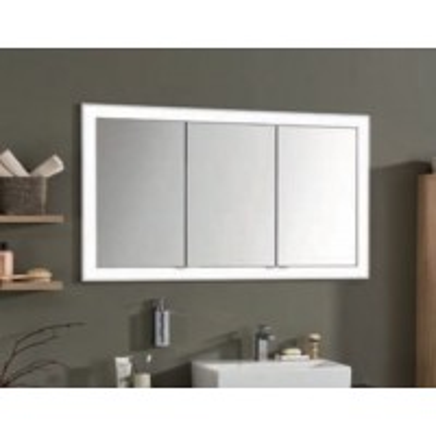einbau spiegelschrank 152 cm 3 t rig mit led leuchtkranz. Black Bedroom Furniture Sets. Home Design Ideas