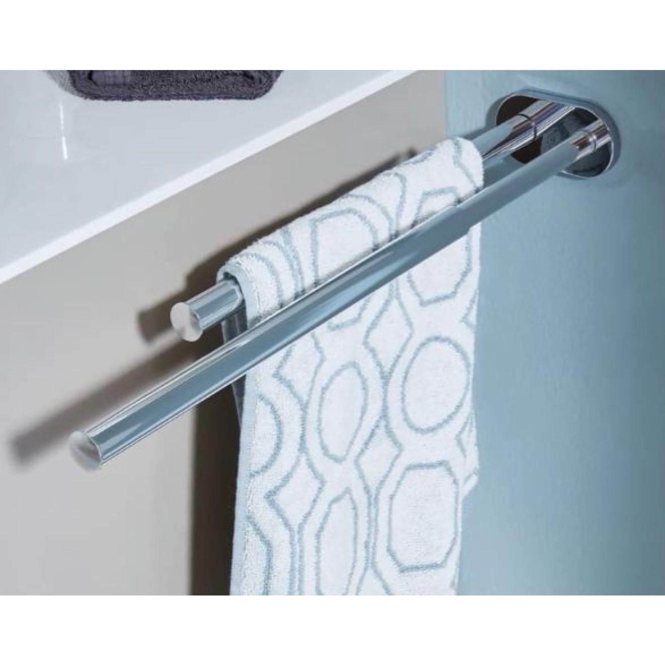 handtuchhalter 2 armig teleskopisch ausziehbar wandmontage 33 cm aluminium poliert treffpunkt. Black Bedroom Furniture Sets. Home Design Ideas
