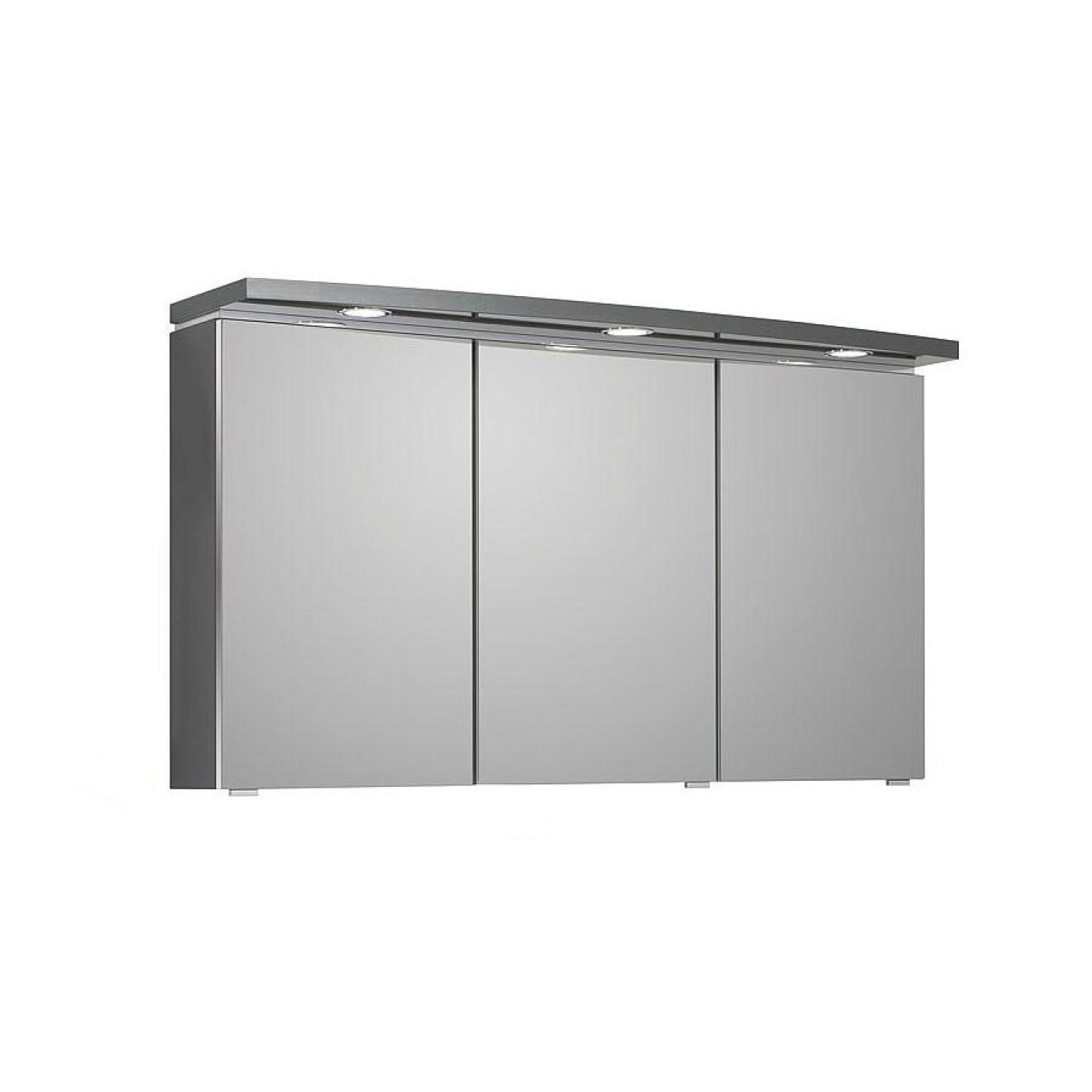 2d spiegelschrank 80 cm 3 t rig mit gesimsboden mit led. Black Bedroom Furniture Sets. Home Design Ideas